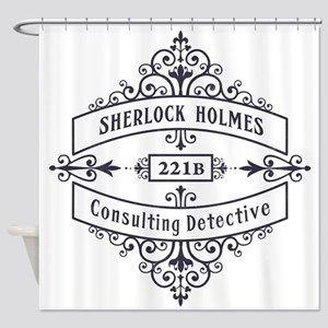 Consulting Detective (blue) Shower Curtain