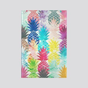 Hawaiian Pineapple Pattern Tropic Rectangle Magnet