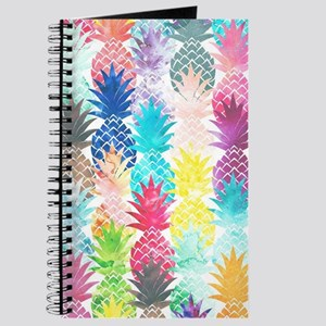 Hawaiian Pineapple Pattern Tropical Waterc Journal