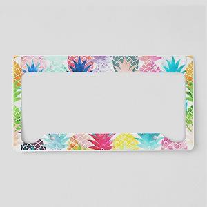 Hawaiian Pineapple Pattern Tr License Plate Holder