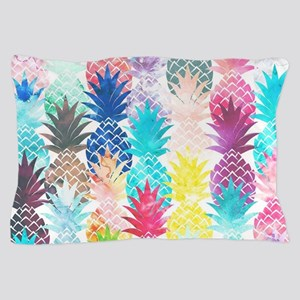 Hawaiian Pineapple Pattern Tropical Wa Pillow Case