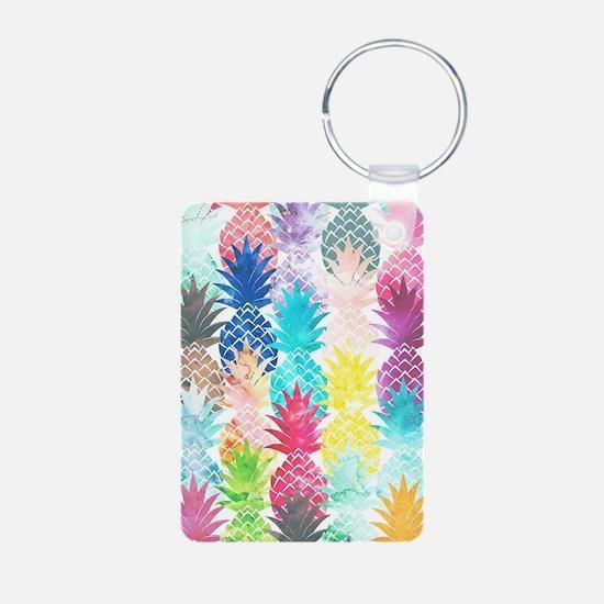 Hawaiian Pineapple Pattern Keychains