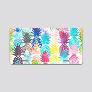 Hawaiian Pineapple Pattern  Aluminum License Plate