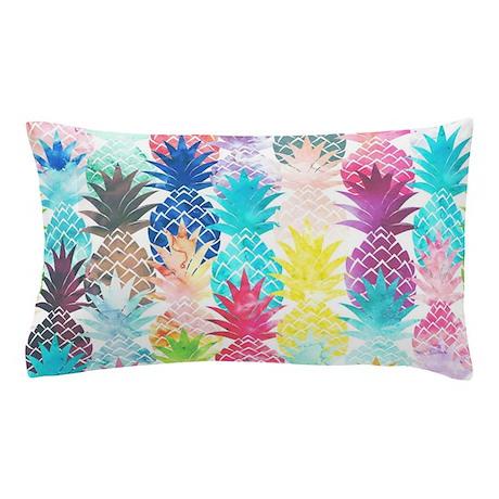Hawaiian Pineapple Pattern Tropical Wa Pillow Case