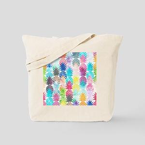 Hawaiian Pineapple Pattern Tropical Water Tote Bag