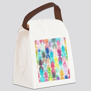 Hawaiian Pineapple Pattern Tropic Canvas Lunch Bag