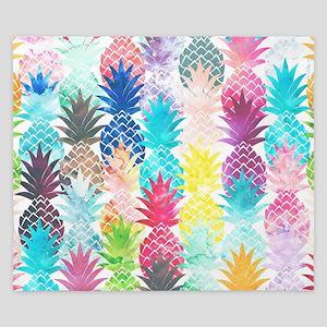 Hawaiian Pineapple Pattern Tropical Wat King Duvet
