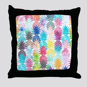 Hawaiian Pineapple Pattern Tropical W Throw Pillow