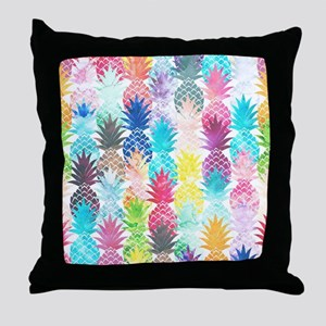 Hawaiian Pineapple Pattern Tropical W Throw Pillow
