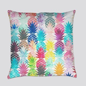 Hawaiian Pineapple Pattern Tropica Everyday Pillow