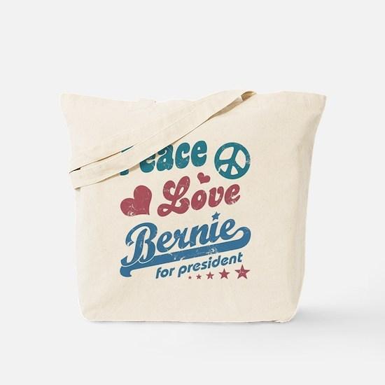 Peace Love Bernie Vintage Tote Bag