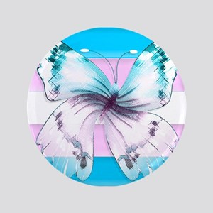 Transgender Butterfly Of Transition Button
