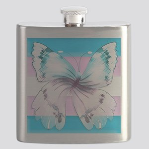 transgender butterfly of transition Flask