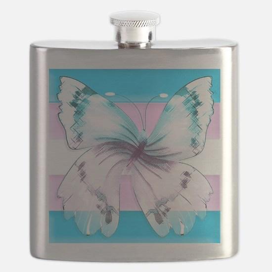 transgender butterfly of transition Flask
