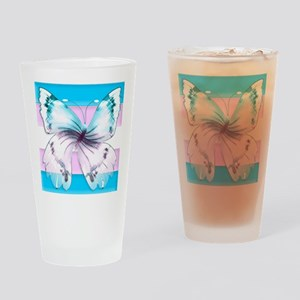 transgender butterfly of transition Drinking Glass