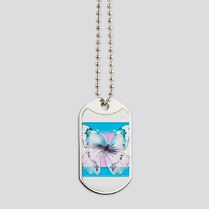 transgender butterfly of transition Dog Tags
