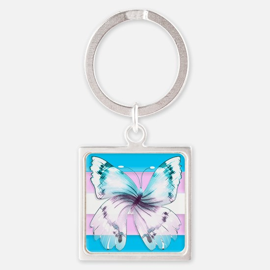 Transgender Butterfly Of Transition Keychains