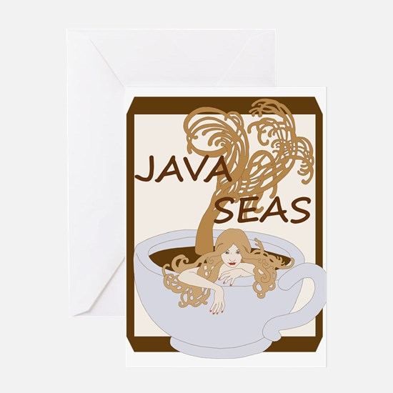 Swimming In The Java Seas Greeting Cards