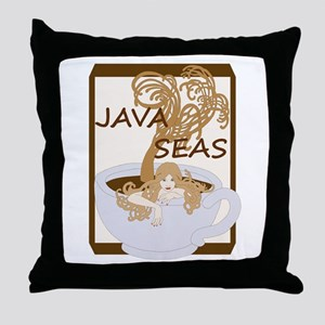 Swimming In The Java Seas Throw Pillow