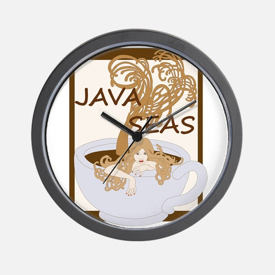 Swimming In The Java Seas Wall Clock
