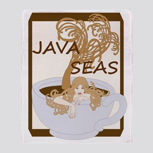 Swimming In The Java Seas Throw Blanket