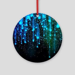 Blue Sparkles Ornament (Round)