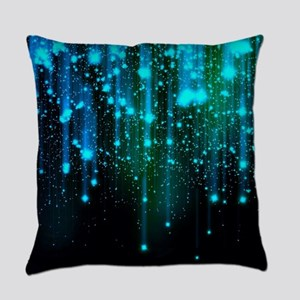 Blue Sparkles Everyday Pillow