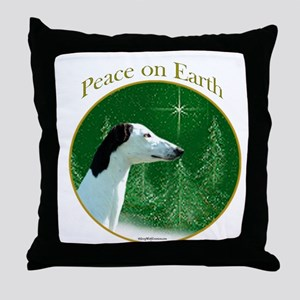 Greyhound Peace Throw Pillow
