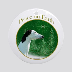 Greyhound Peace Ornament (Round)