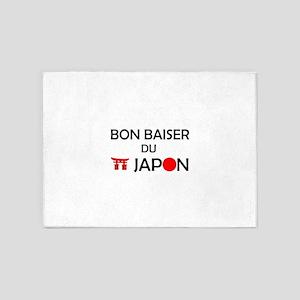 Bon Baiser du Japon 5'x7'Area Rug