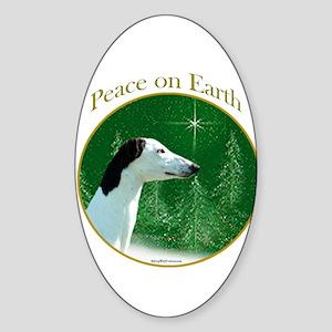 Greyhound Peace Oval Sticker