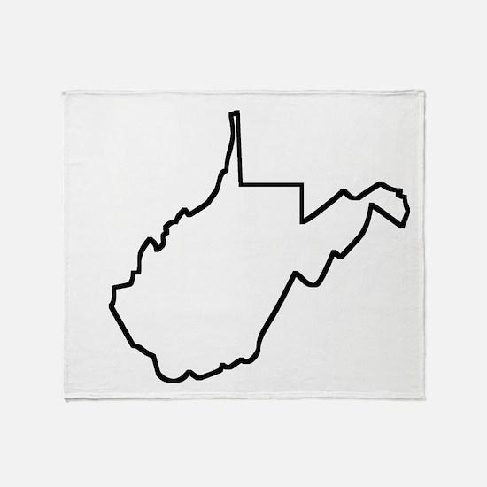 West Virginia Outline Throw Blanket