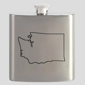 Washington Outline Flask