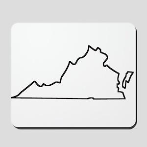 Virginia Outline Mousepad
