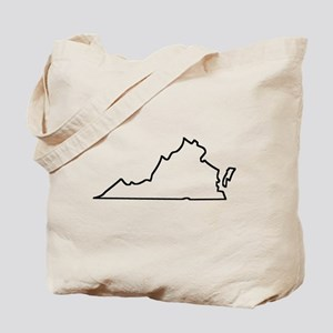 Virginia Outline Tote Bag