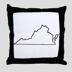 Virginia Outline Throw Pillow