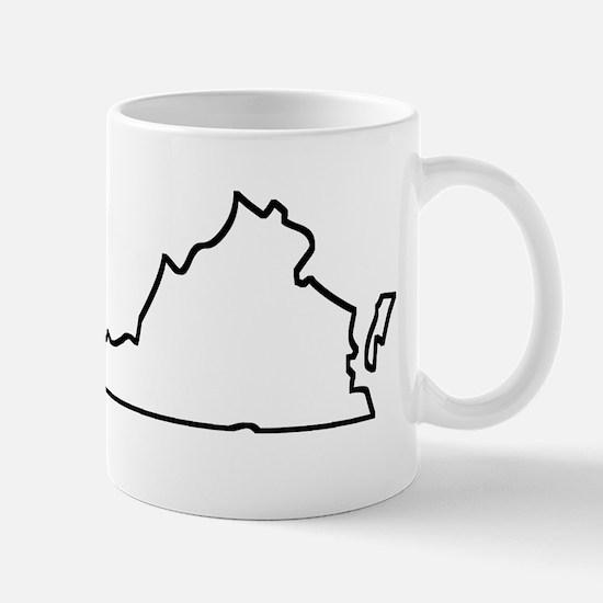 Virginia Outline Mugs