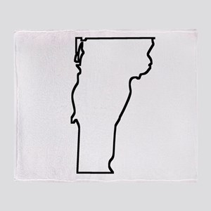 Vermont Outline Throw Blanket