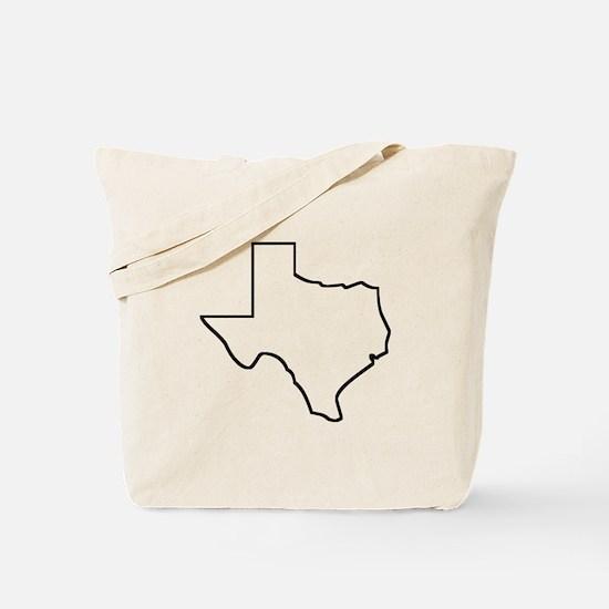 Texas Outline Tote Bag
