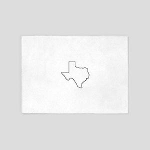 Texas Outline 5'x7'Area Rug