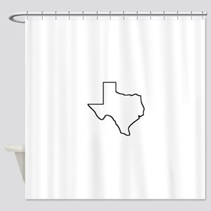 Texas Outline Shower Curtain