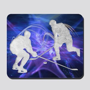Ice Hockey Players Fighting for the Puck Mousepad