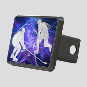 Ice Hockey Players Fightin Rectangular Hitch Cover