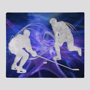 Ice Hockey Players Fighting for the  Throw Blanket