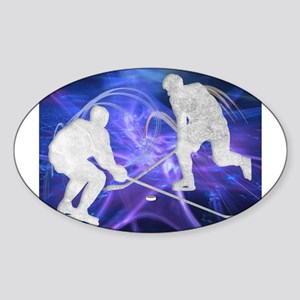 Ice Hockey Players Fighting Sticker