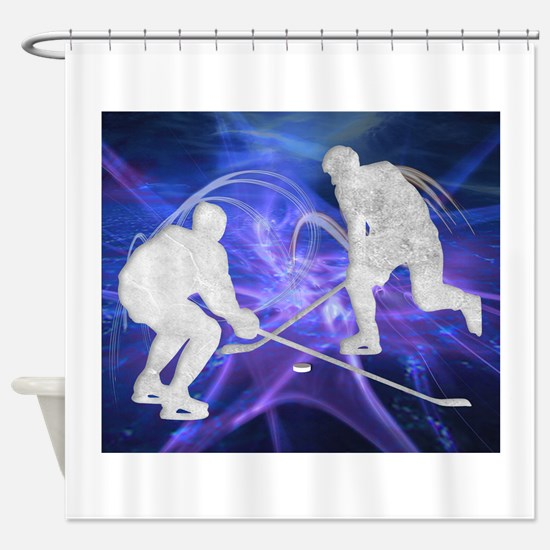 Ice Hockey Players Fighting for the Shower Curtain