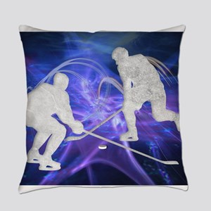 Ice Hockey Players Fighting for th Everyday Pillow