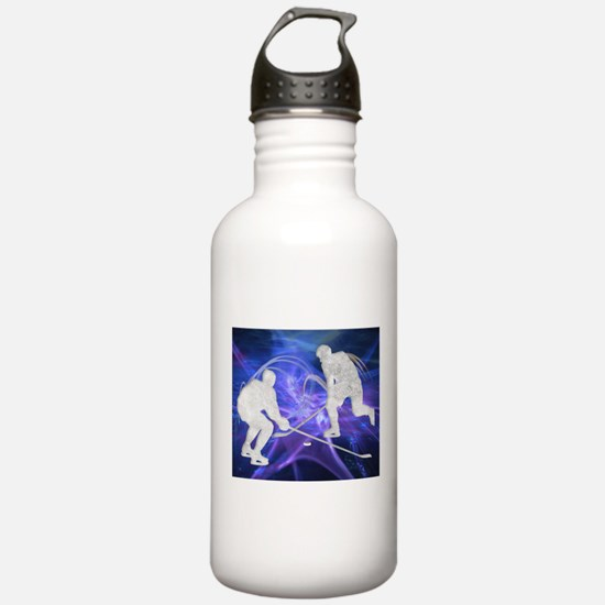 Ice Hockey Players Fig Water Bottle