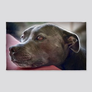 Loving Pitbull Eyes Area Rug