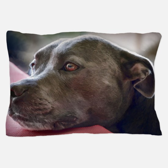 Loving Pitbull Eyes Pillow Case